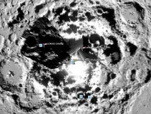 Luna polo sur (Google Earth)