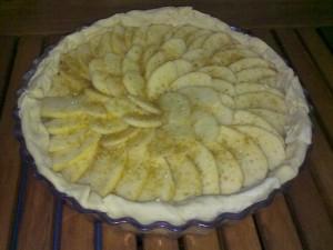 Tarta Manzana sin hornear